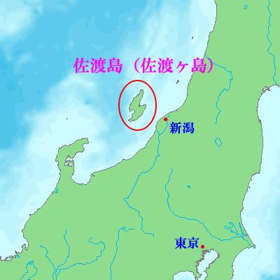 佐渡島の位置